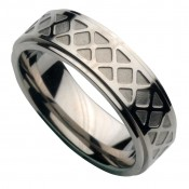 7mm Designed Titanium Wedding Ring