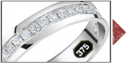 9ct White Gold Diamond Wedding Rings